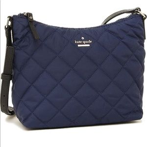Kate Spade Ridge Street Navy quilted crossbody GUC